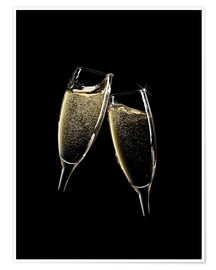 Premium poster  Cheers! Two Champagne Glasses