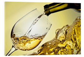 Acrylic glass  White wine in wineglass