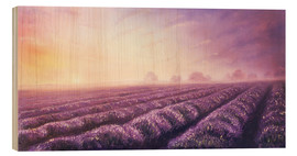 Wood print  Lavender dream