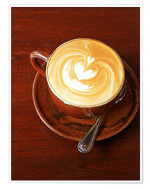 Premium poster Cappuccino with heart shape