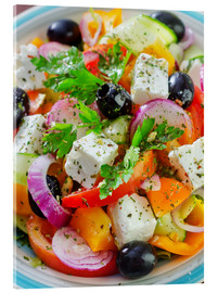 Acrylic print  greek salad