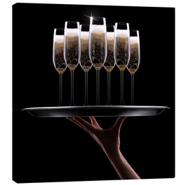 Canvas print  hand with champagne