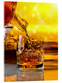 Acrylic print  Whiskey with ice