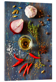 Acrylic print  Spices and Herbs