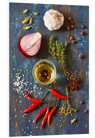 Foam board print  Spices and Herbs