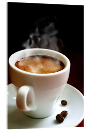 Acrylic print  cup of hot coffee