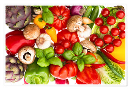 Premium poster  Fresh vegetables and herbs