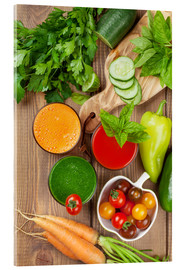 Acrylic print  Fresh vegetable smoothie