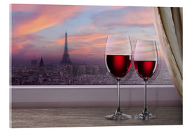 Acrylic glass  Couple in Paris
