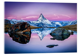 Acrylic print  Stellisee and Matterhorn in the Swiss Alps - Jan Christopher Becke