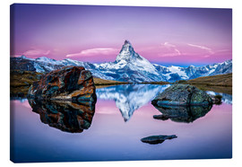 Canvas  Stellisee and Matterhorn in the Swiss Alps - Jan Christopher Becke