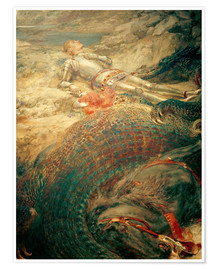 Premium poster Saint George and the Dragon