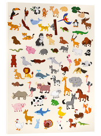 Acrylic print  Animal World - Kidz Collection