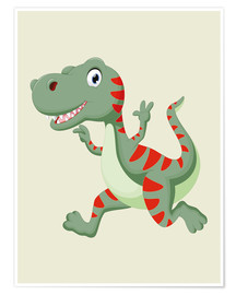 Premium poster  Laughing Dino - Kidz Collection