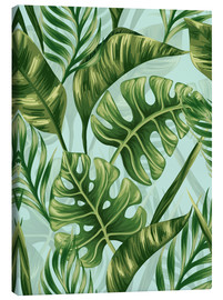 Canvas  Monstera Leaves