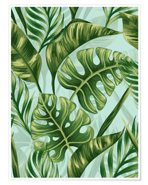 Poster  Monstera Leaves