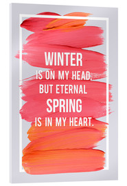 Acrylic print  Winter is on my head - Typobox