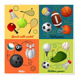 Premium poster  Do some sports - Kidz Collection