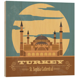 Wood print  Turkey - Hagia Sophia