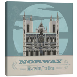 Canvas print  Norway - Nidaros Cathedral