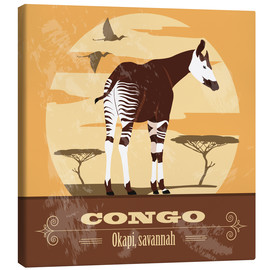 Canvas  Congo - Okapi - Kidz Collection
