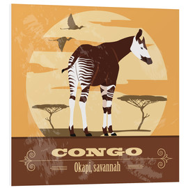 Foam board print  Congo - Okapi - Kidz Collection