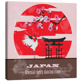 Canvas  Japan - Cherry & Crane