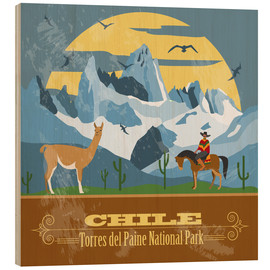 Wood print  Chile - Torres del Paine