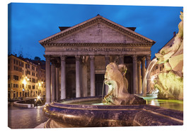 Canvas  Pantheon at twilight, Rome, Italy - Circumnavigation