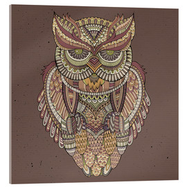 Acrylic glass  Owl - colours of the forest