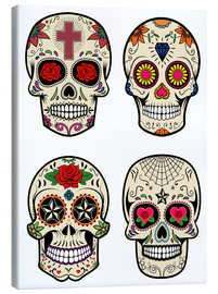 Canvas print  Mexico Skulls
