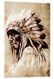 Acrylic print  Native American elder