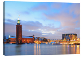 Canvas print  Stockholm City Hall at dusk