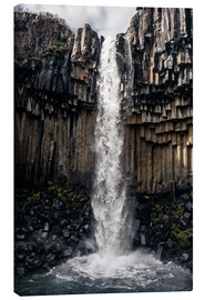 Canvas print  Svartifoss, Black waterfall, Iceland