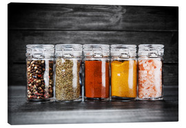 Canvas  Spices in glass
