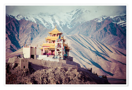 Premium poster  Monastery in the Himalayas