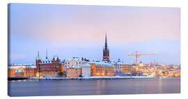 Canvas print  Panoramic cityscape of Stockholm, Sweden
