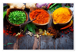Premium poster Colorful spices diversity