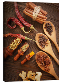 Canvas print  Spices Still Life
