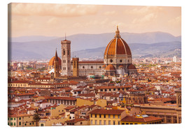 Canvas  Florence Cathedral in evening light