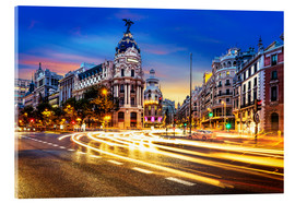 Acrylic print  Late night shopping in Madrid
