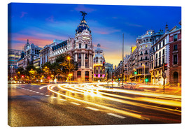 Canvas print  Late night shopping in Madrid