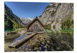 Foam board print  Boathouse at the lake, Bavaria - Achim Thomae