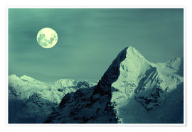 Premium poster  Full Moon on the Eiger - Gerhard Albicker