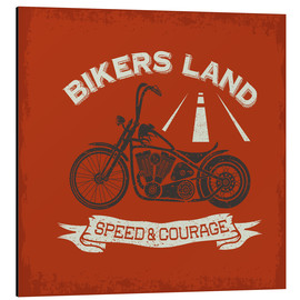 Alu-Dibond  Bikers Land