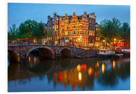 Forex  Night city view of Amsterdam