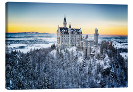 Canvas print  Neuschwanstein in the snow