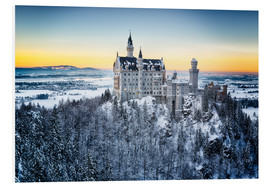 Neuschwanstein in the snow