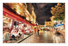 Premium poster  Montmartre streets at night