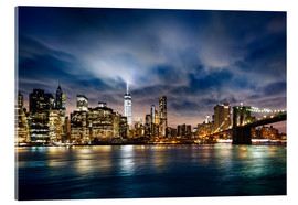 Acrylic print  beautiful sunrise over Manhattan
